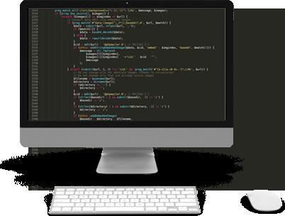 Código no monitor
