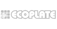 Ecoplate logo preto e branco