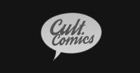 Cult Comics logo preto e branco