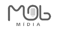 Mob media logo preto e branco