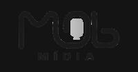Mob media logo preto e branco