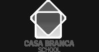 Casa Branca School logo preto e branco